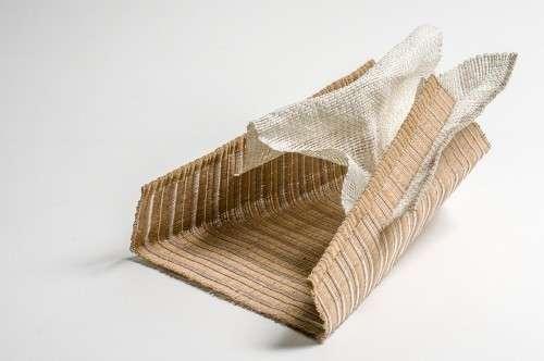 Tissage double, fil de papier/acier, fil de nylon, fil d'acier inox., soie, fil de papier, lin L 30 X H 23 X P 35 2013