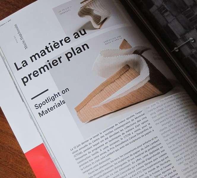Article magazine Intérieurs #61