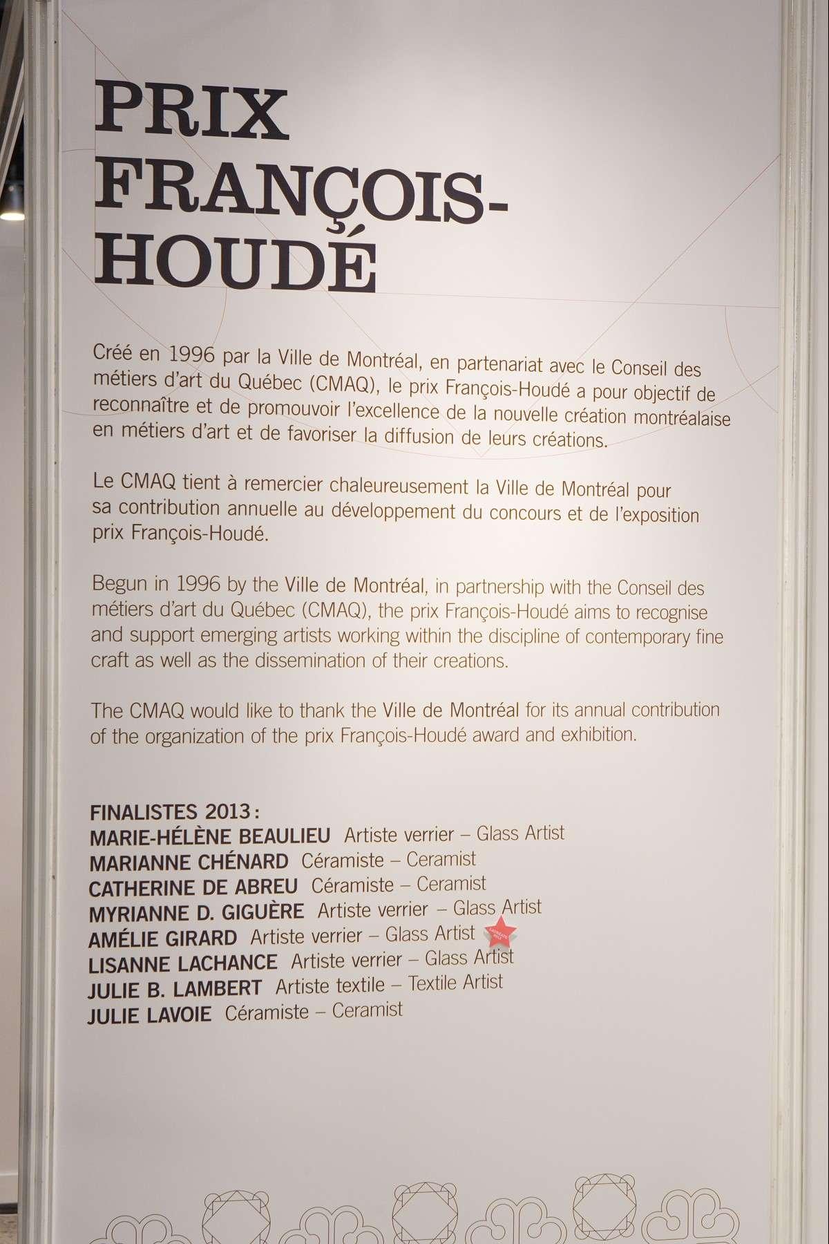 Prix François-Houdé, affiche