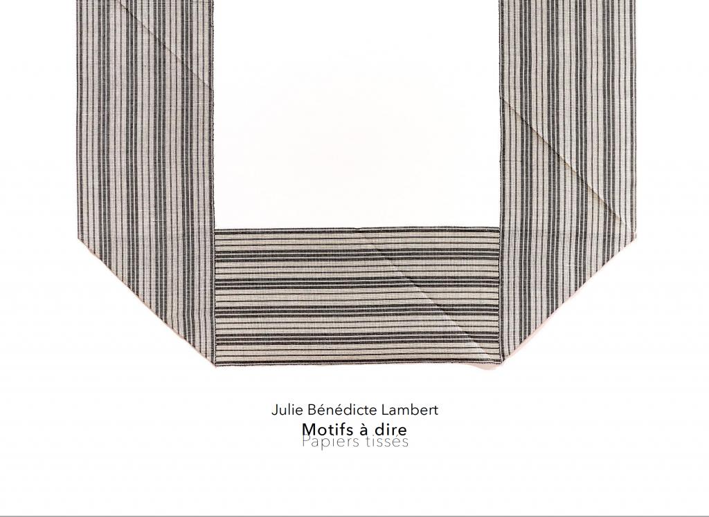carton d'invitation. motifs à dire. julie bénédicte lambert