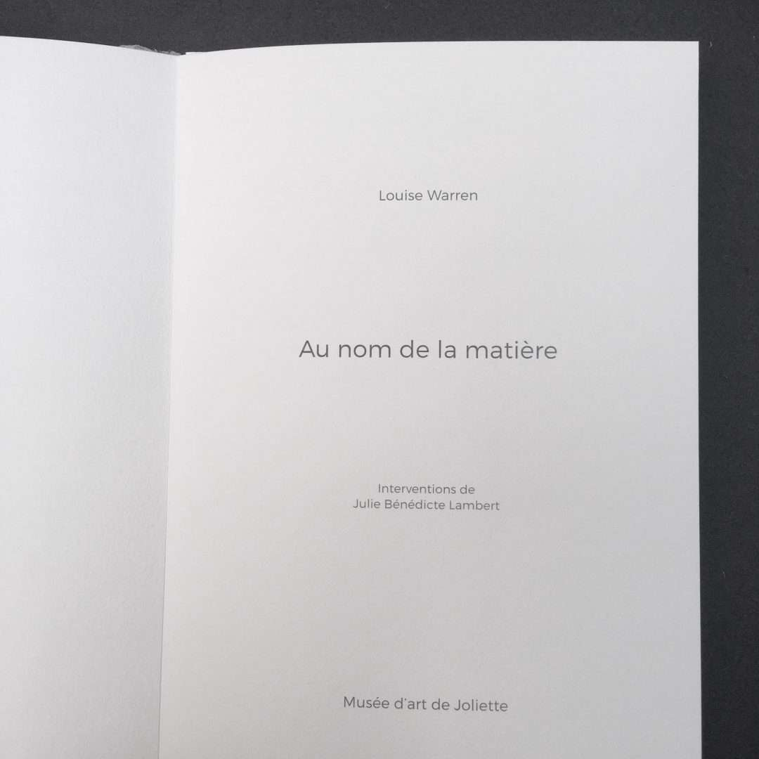 Julie Bénédicte Lambert. Collaboration avec Louise Warren. Livre d'artiste. Détail 2. Crédit photo : J. B. Lambert