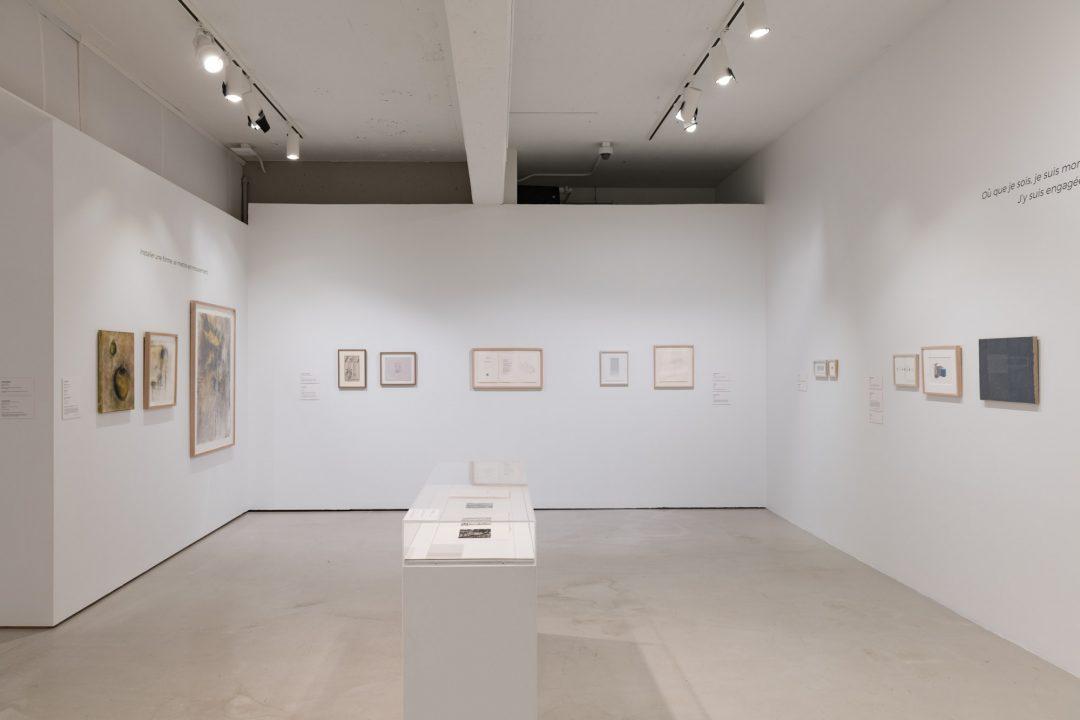 Au nom de la matière. Le musée imaginaire de Louise Warren, vue d'installation 5 au Musée d'art de Joliette, 2020. Photo : Paul Litherland